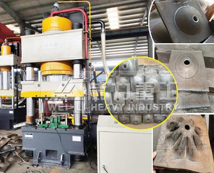 煤矿山企业新发两台630吨锚杆托盘四柱液压机